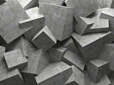 Image cubes wall