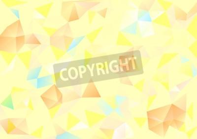 Image Cubisme, fond, pâle, jaune, orange, bleu