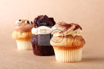 Cupcakes avec le glaçage