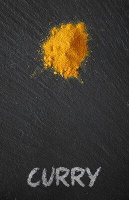 Image Curry, noir, ardoise, table