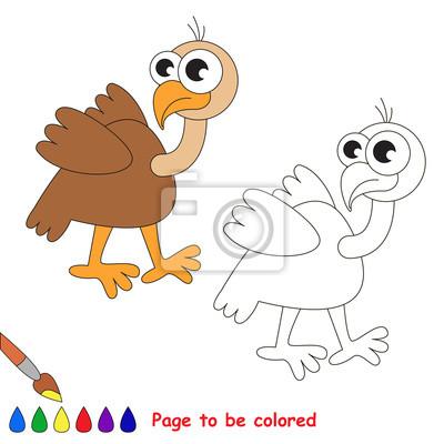 Image Cute Dessin Animé Vautour Page à Colorier