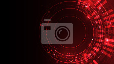 Image Cyber space red vector