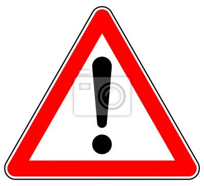 Image D44 Schild-Dreieckig - allemand: Hinweis Zeichen - Achtung Gefahrenstelle - français: signe d'avertissement / signe d'exclamation - triangle rouge xxl g4925