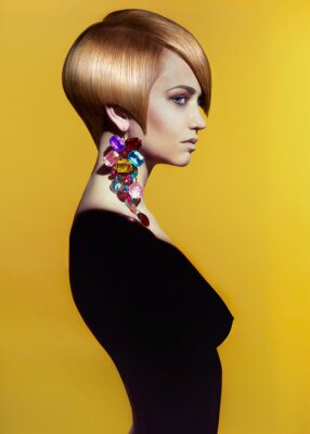 Image Dame avec style coiffure