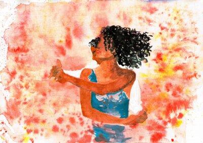Image Dancing couple. Illustration d'aquarelle