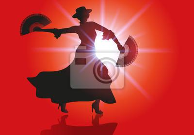 Danse Flamenco éventail Danseur Musique Peintures Murales