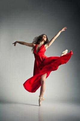 Image Danseur de ballet portant la robe rouge au gris
