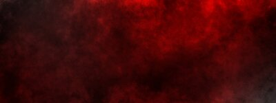 Image dark saturated black magic background with red fog