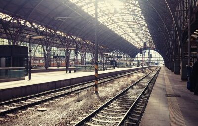 Image De la gare principale de Prague, République tchèque.