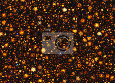de nombreux petits cratères de météorite sur un espace étoiles horizons