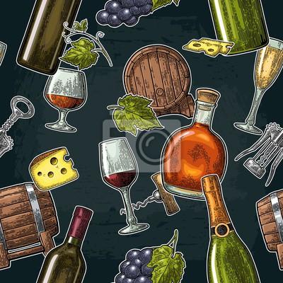 Des boissons sans cosmétiques à base de raisin. vin, brandy, Images myloview