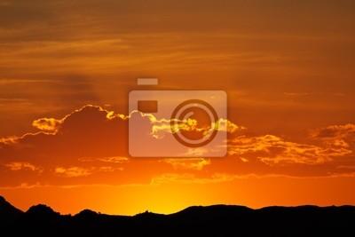 Desert coucher du soleil, de la Namibie, l'Afrique australe