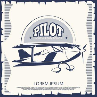 Image Design d'étiquette - avion affiche vintage