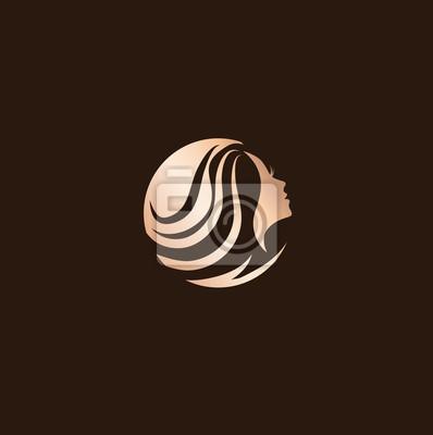 Design De Logo De Salon De Coiffure De Beauté De Femme Peintures