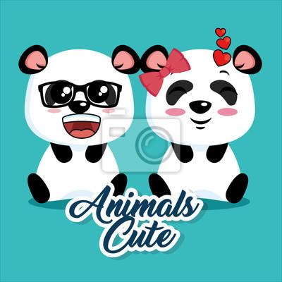 Image Dessin Animé Mignon Animal Panda