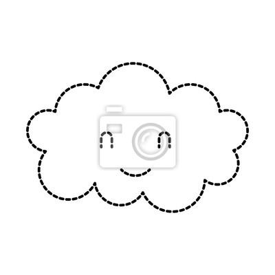 Image Dessin Animé Nuage Mignon Baby Shower Image Illustration Vectorielle