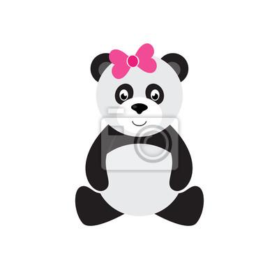 Image Dessin Animé Panda Séance Arc