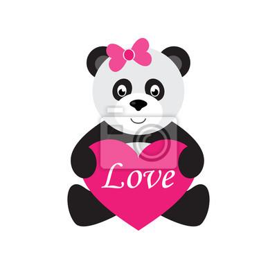 Image de coeur en dessin - Image de panda a imprimer ...
