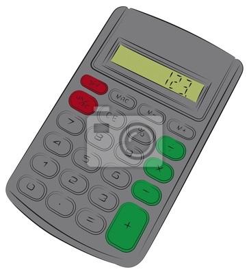 Image Dessin Coloré Dune Calculatrice Simple