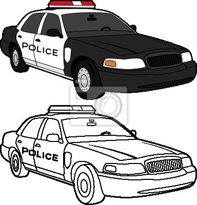 Dessin De Vecteur Dune Voiture De Police La Couleur Et Les