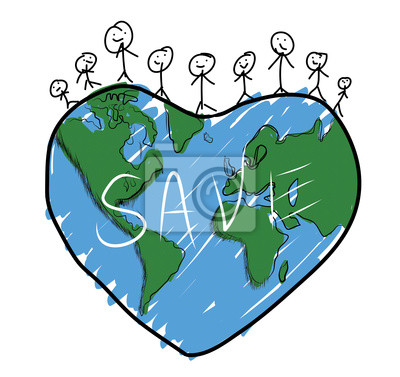 Image Dessin Famille Heureuse Sur La Planète Terre