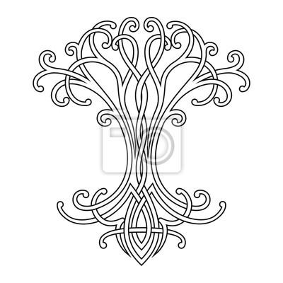Dessin Celtique dessin national celtique de vecteur dun arbre de vie. peintures