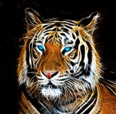 Image Dessin numérique d'un tigre