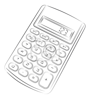 Image Dessin Vectoriel De Simple Calculatrice