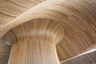 Image détails architecturaux de la construction de l'Assemblée galloise, Cardiff Bay, u