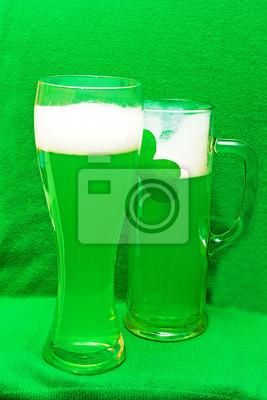 deux bière verte