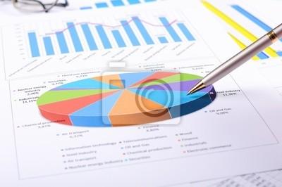 diagrammes et des graphiques de ventes