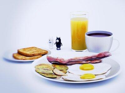 Image diavoli alieni un rendu de 3d colazione