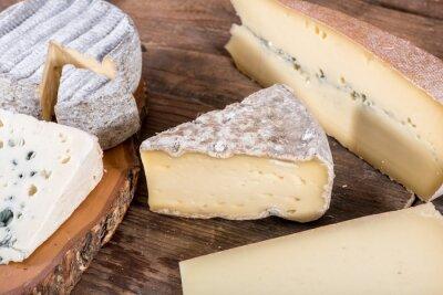 Image Différentes variétés de fromages français