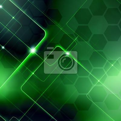 Digital Green fond d'abstraction