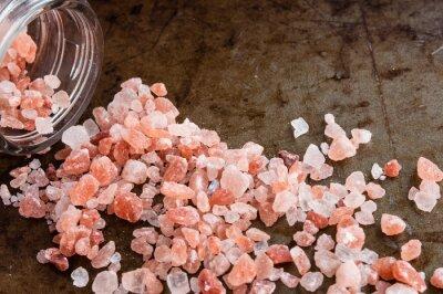 Image Dispersé, Himalayan, rose, sel, cristaux, verre, bouteille, rouillé, métal ...