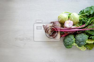 Divers légumes espace de copie