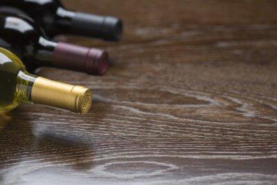 Image Divers, vin, bouteilles, réflectif, bois, surface, résumé