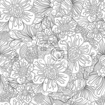 Image Doodle Noir Et Blanc Abstrait Dessin Vectoriel Tiré à La Main