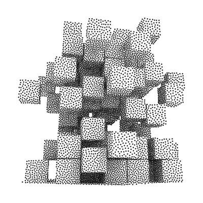 Image Dotwork Halftone Vector Boxes Icône