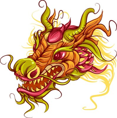 Image Dragon chinois tête