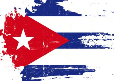 Image Drapeau cubain rayé