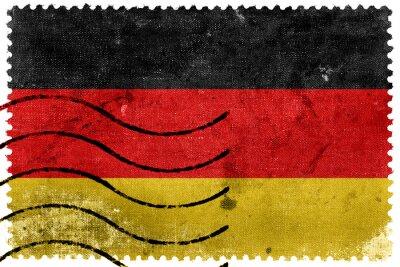 Image Drapeau de l'Allemagne - vieux timbre