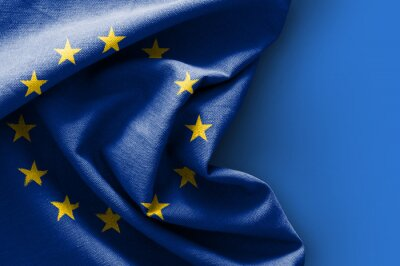 Image Drapeau, Europe, bleu, fond