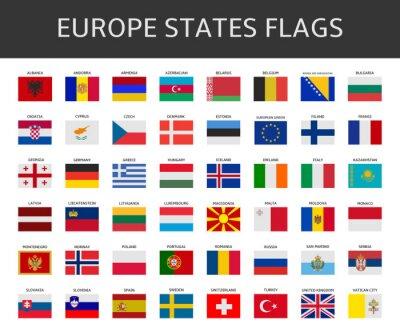 Image drapeau européen stipule vector set