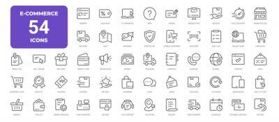 Image E-Commerce Line Icons. Editable Stroke. Pixel Perfect.