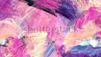 Image Éclaboussures artistiques lumineuses. Texture de couleur de peinture abstraite. Modèle futuriste moderne. Fond dynamique multicolore. Illustration fractale pour la conception graphique créative.