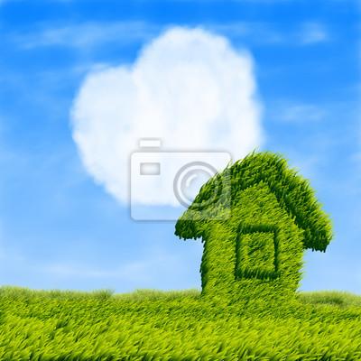 Eco maison et le coeur des nuages
