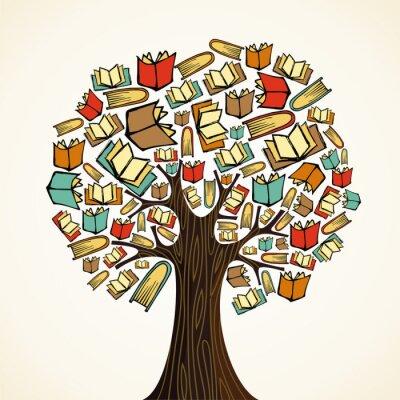 Image Education concept arbre avec des livres