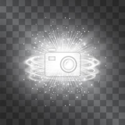 Image Effet De Lumière Vecteur Argent Blanc Lueur étoile Avec Des