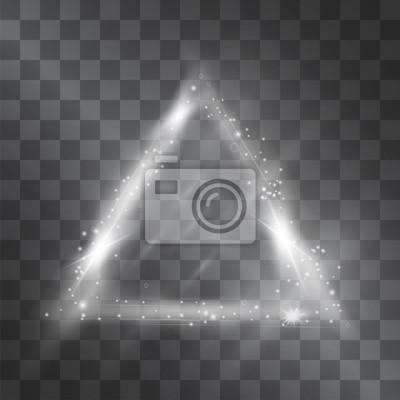 Image Effet Lumineux Cadre En Triangle Argenté Avec Des Facettes Sombres